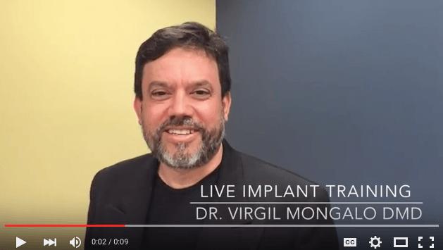 Register now 7 Day Live Implant Dental Course, Dr Virgil Mongalo DMD