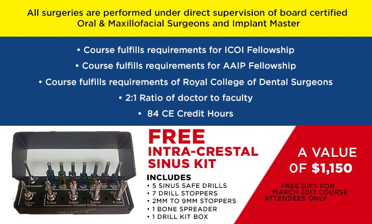 7 Day Live Implant Course, Live Implant Training, Work On Patients